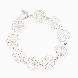 Necklace, Flowers 925 Silver