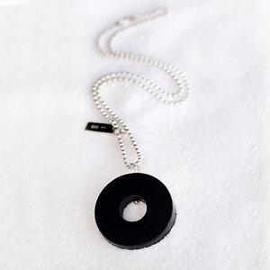 Necklace, Black Circle