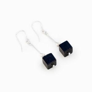 News Earrings Black Jade