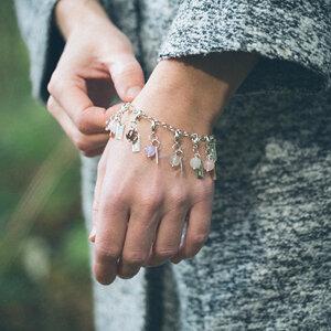News mini Charms Semi precious stone 925 Silver