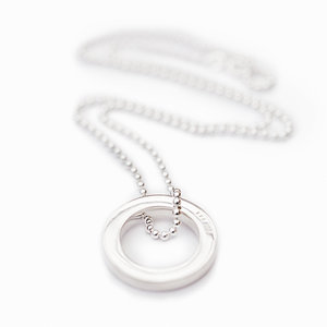 Men´s Necklace Ring 925 Silver and ball chain