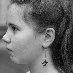 Earrings Flower 925 Silver