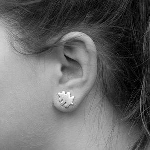 Earrings Small Oakleaf 925 Silver