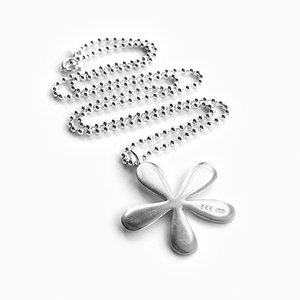 Necklace, silver flower