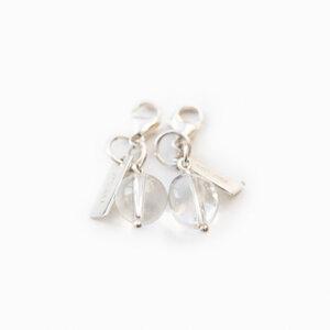 Charms Semi precious stone 925 Silver