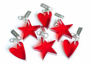 Charm Red Acrylic Heart
