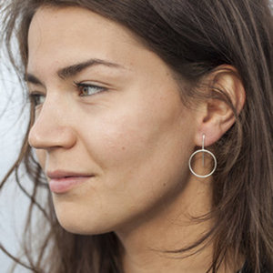 Earrings Circle 925 Silver