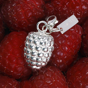 Necklace with charms Raspberry & Small raspberryleaf