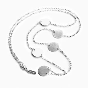 Necklace, silver disks
