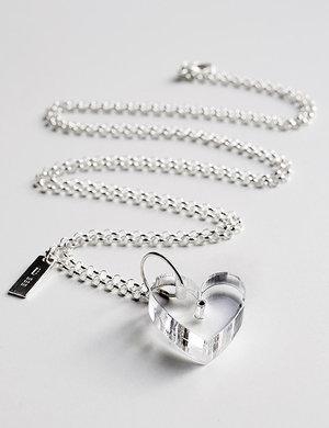 Halsband, Transparent Hjärta