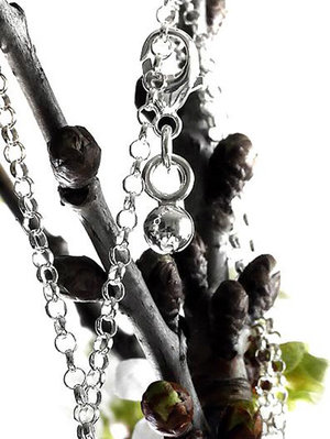 """Charm Small missing pea """" a unique piece of nature""""925 silver"""