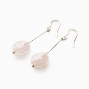 News Earrings Rose quartz